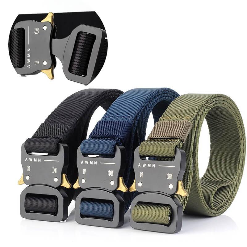 Men/'s Tactical Belt 38mm Nylon Heavy Duty Military Riggers Webbing Belt for Trip